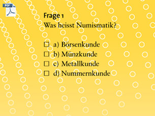 Quizfragen des MoneyMuseums